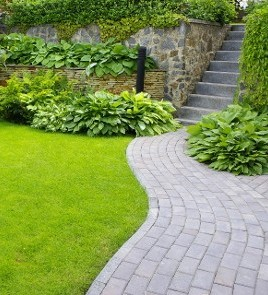 Beautifully Landscaped Pathway - Residential Landscaping